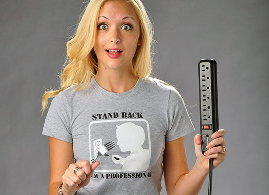 Stand Back, I'm A Professional on Juniors T-Shirt