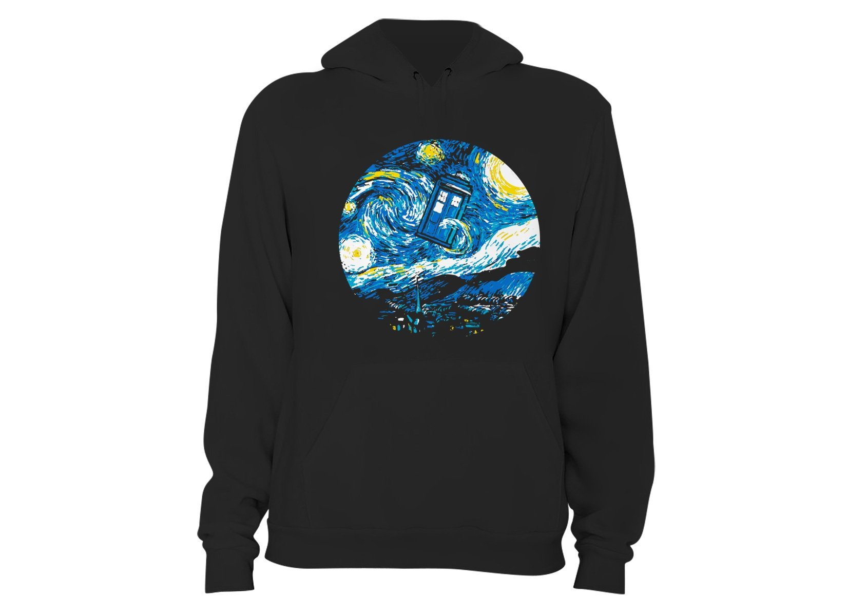 Starry Night Police Box on Hoodie