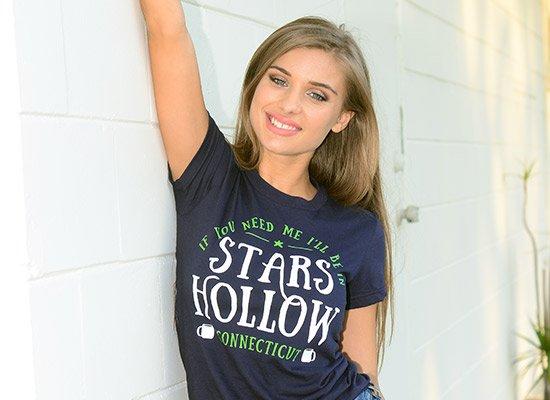 Stars Hollow on Juniors T-Shirt