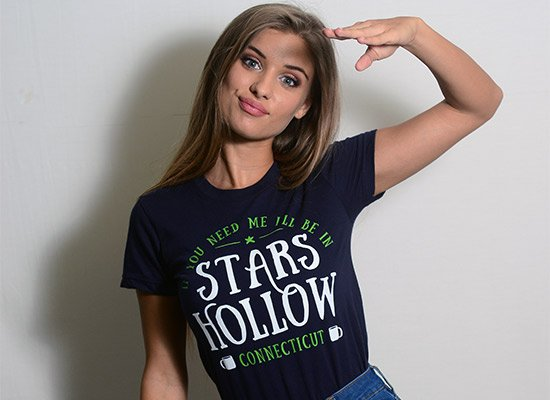 Stars Hollow on Juniors T-Shirt
