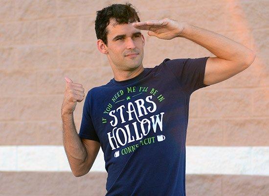 Stars Hollow on Mens T-Shirt