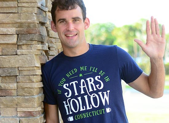 Stars Hollow on Mens T-Shirt