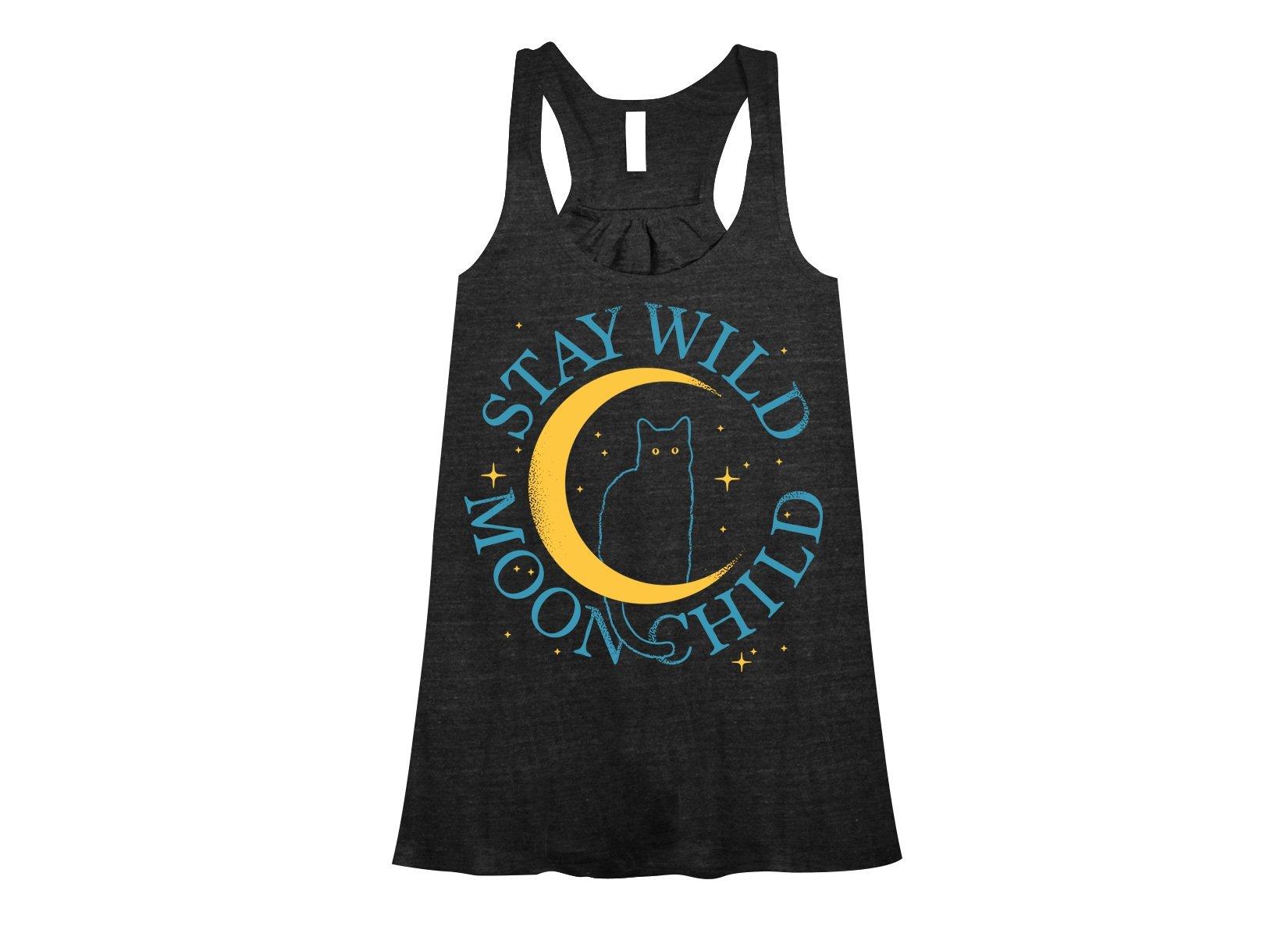 Stay Wild Moon Child on Womens Tanks T-Shirt