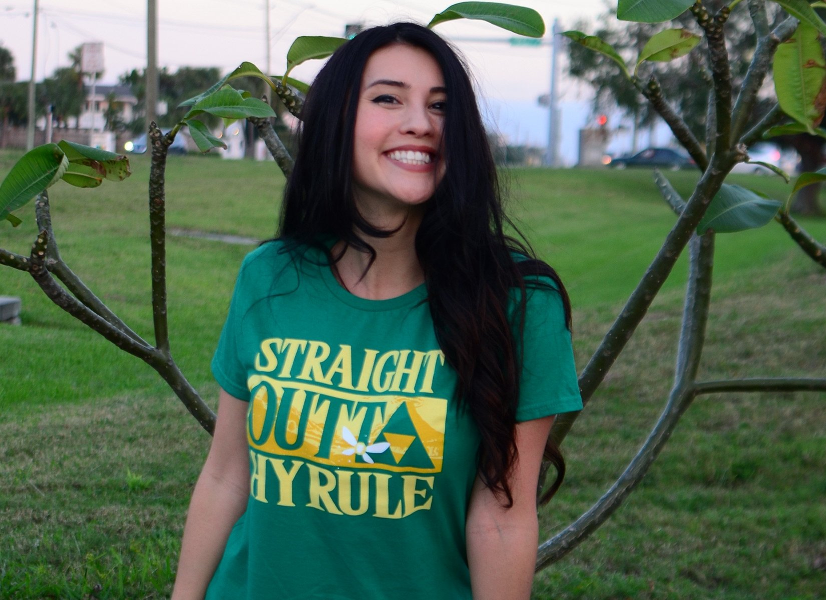 Straight Outta Hyrule on Womens T-Shirt