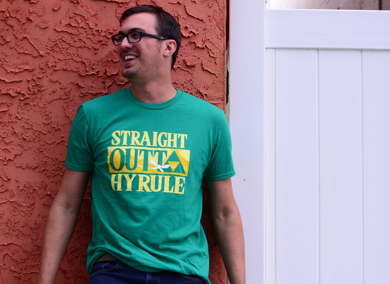 Straight Outta Hyrule on Mens T-Shirt