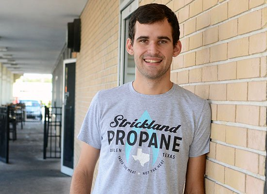 Strickland Propane on Mens T-Shirt