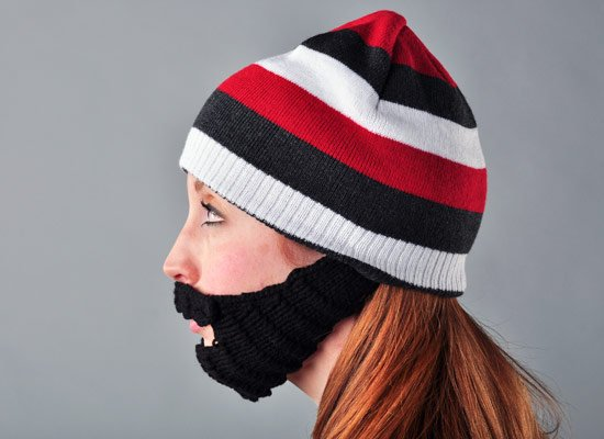 Urban Beard Striped Hat on Mens Hats