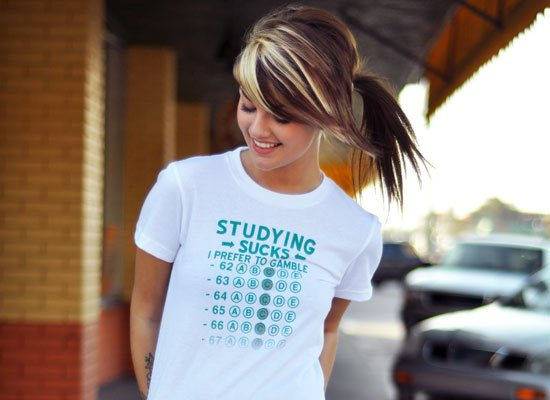 Studying Sucks, I Prefer To Gamble on Juniors T-Shirt