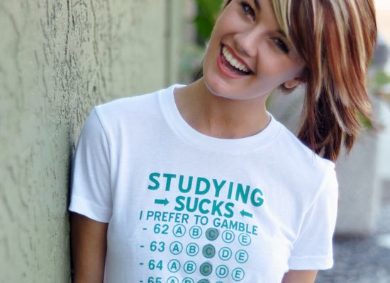 Studying Sucks, I Prefer To Gamble on Juniors T-Shirt