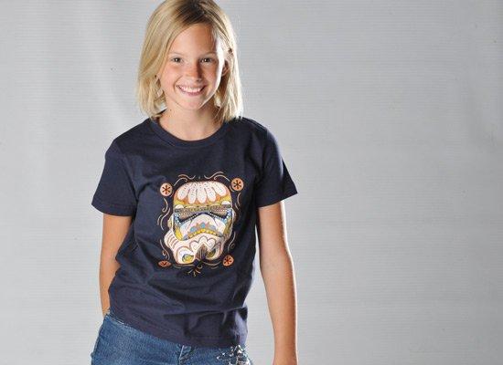 Sugar Skull Trooper on Kids T-Shirt