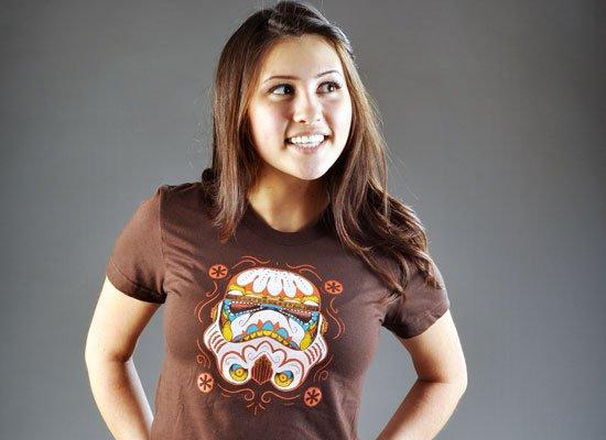 Sugar Skull Trooper on Juniors T-Shirt