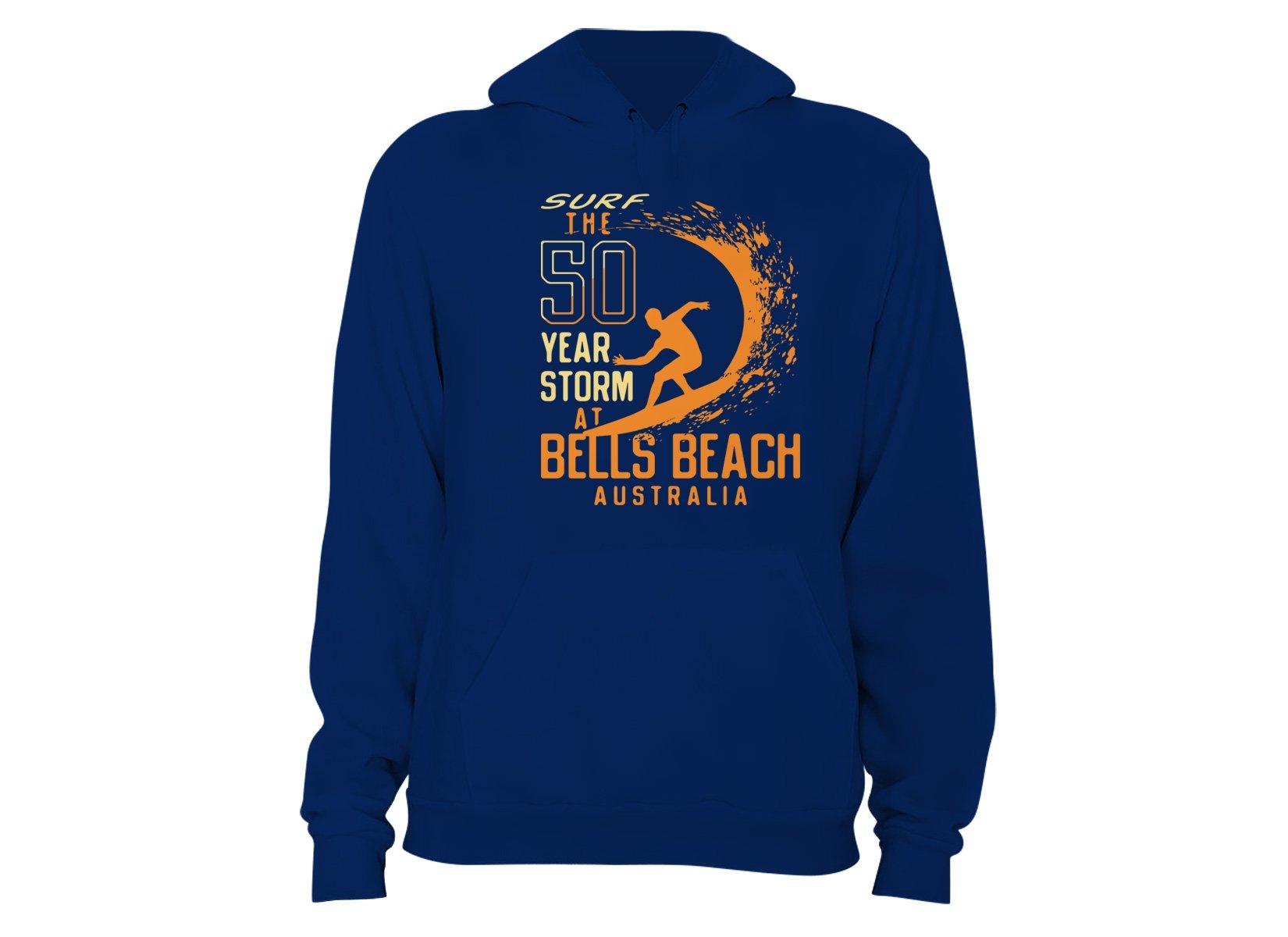 50 Year Storm At Bells Beach on Hoodie