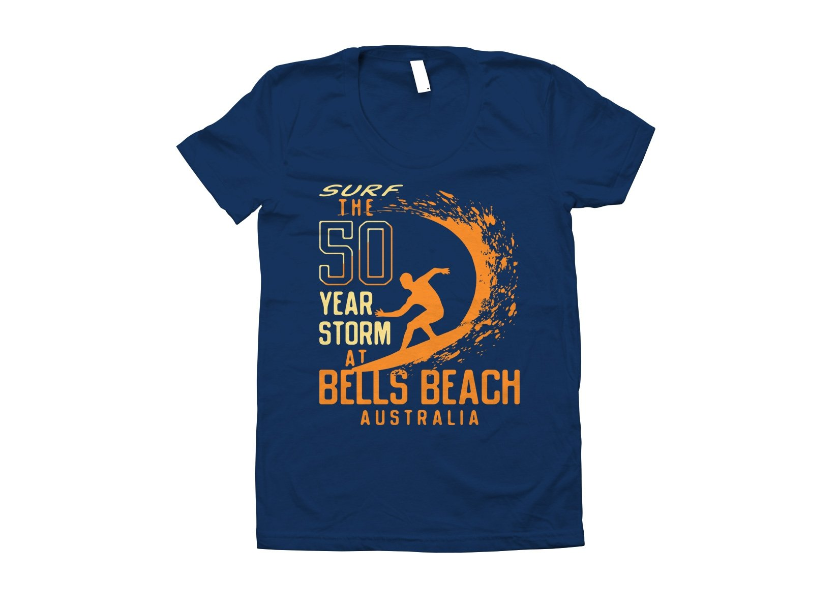 50 Year Storm At Bells Beach on Juniors T-Shirt