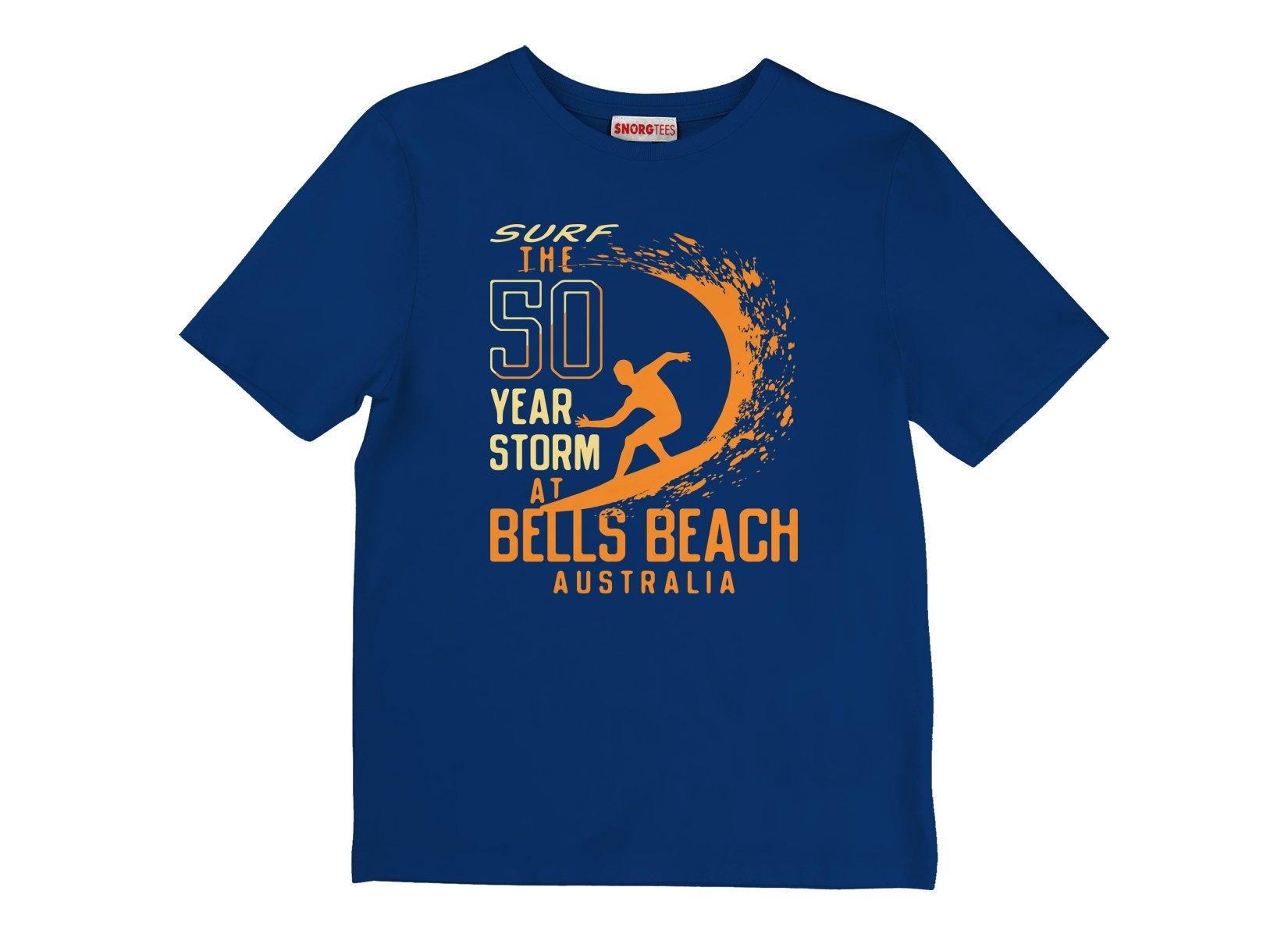 50 Year Storm At Bells Beach on Kids T-Shirt