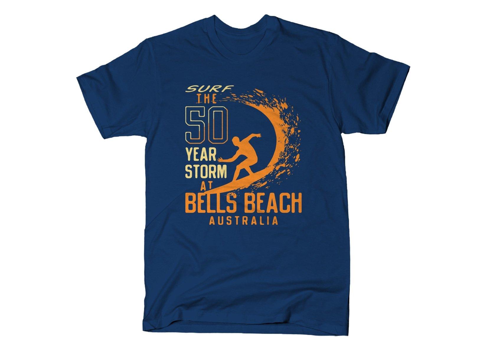 50 Year Storm At Bells Beach on Mens T-Shirt