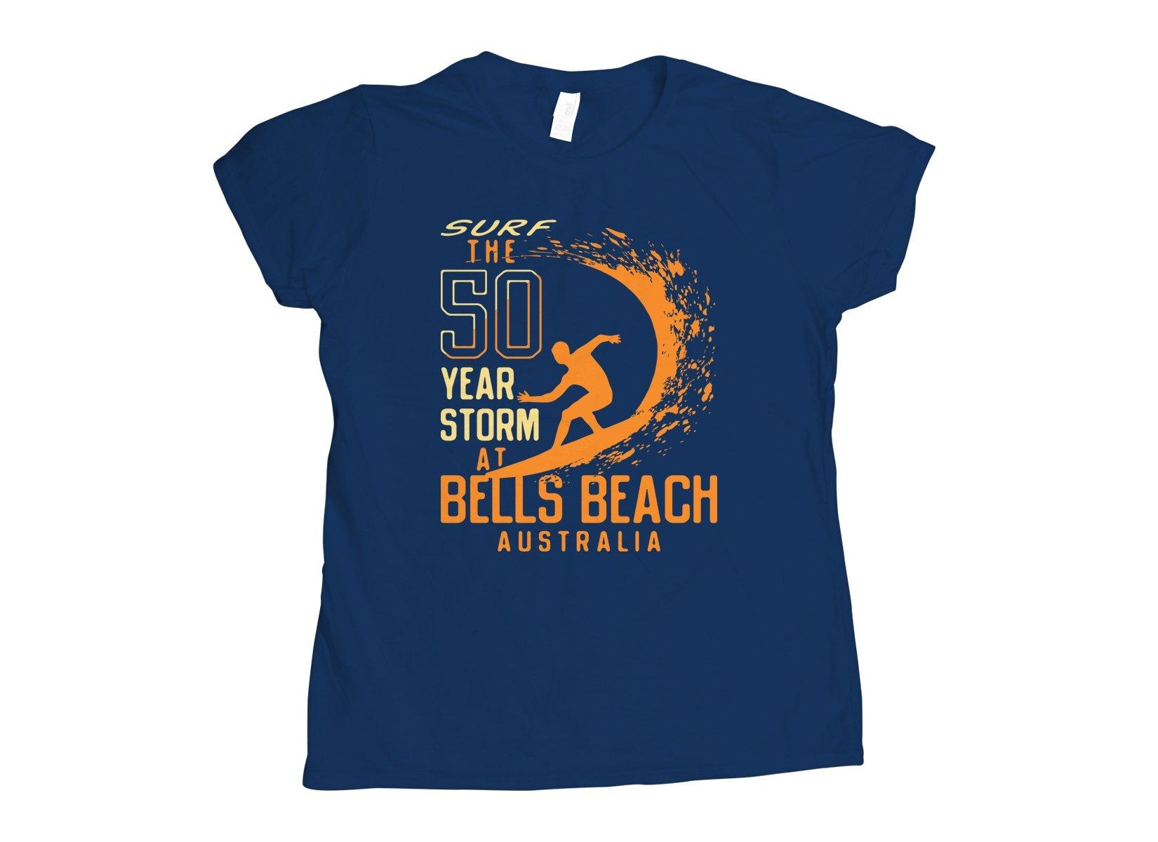 50 Year Storm At Bells Beach on Womens T-Shirt