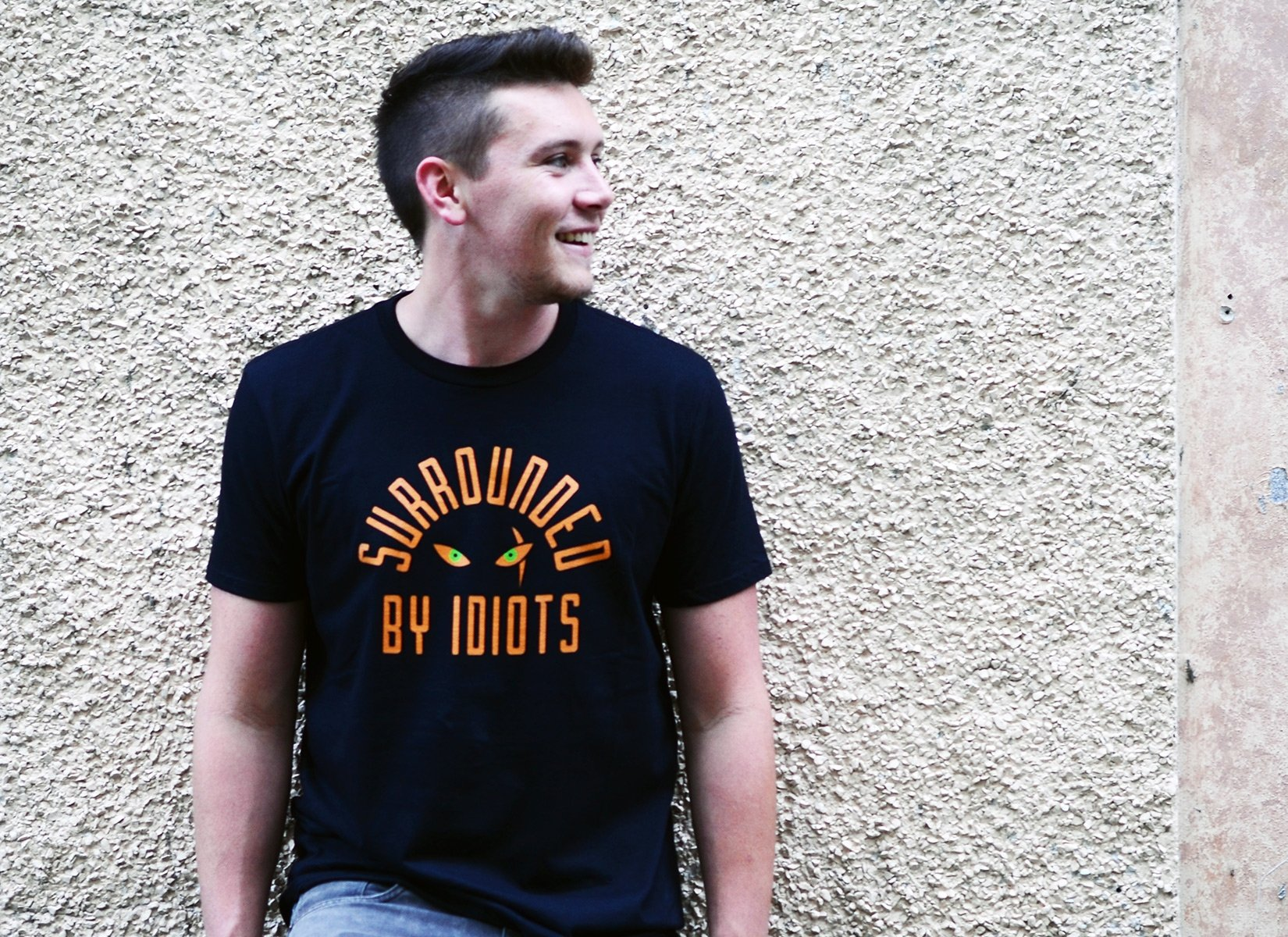Surrounded By Idiots on Mens T-Shirt