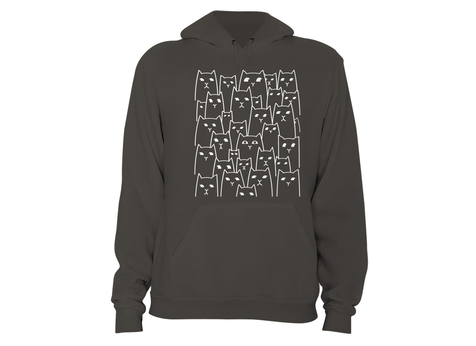 Suspicious Cats on Hoodie