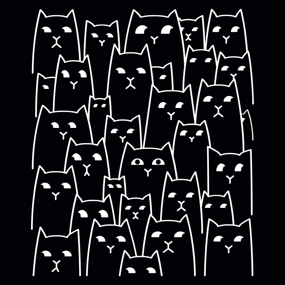 Suspicious Cats on Kids T-Shirt
