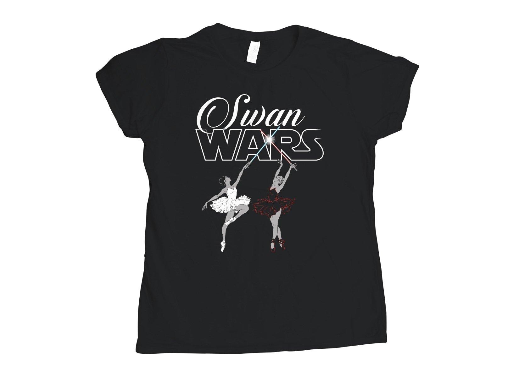 Swan Wars on Womens T-Shirt