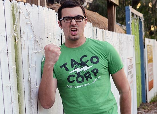 Taco Corp on Mens T-Shirt