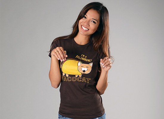 Taco Cat on Juniors T-Shirt