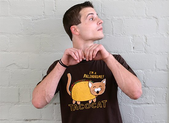 Taco Cat on Mens T-Shirt