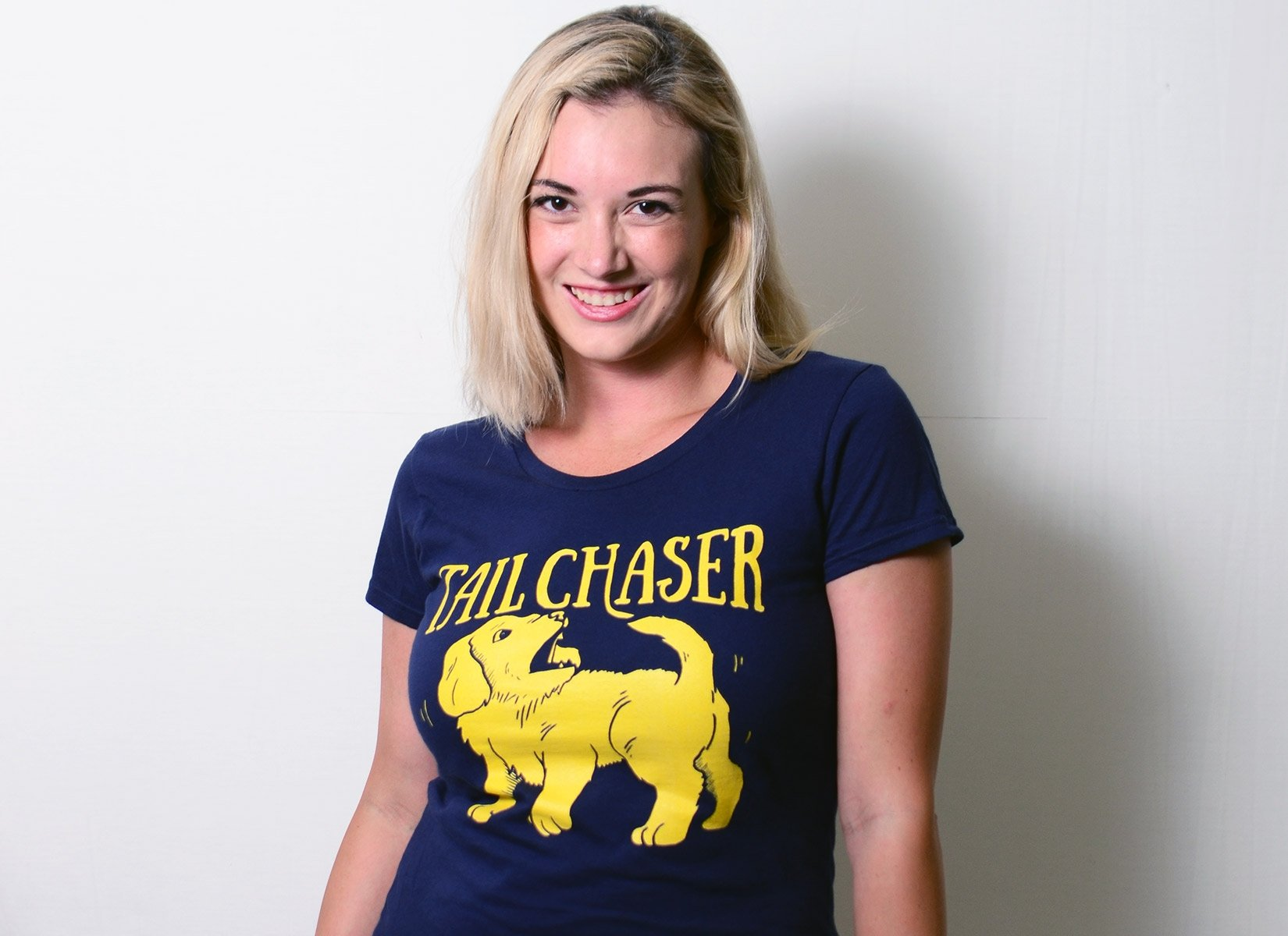 Tail Chaser on Womens T-Shirt