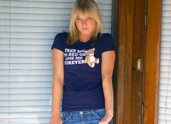 Take Me to Bed on Juniors T-Shirt