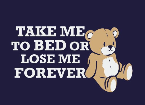 Take Me to Bed on Mens T-Shirt