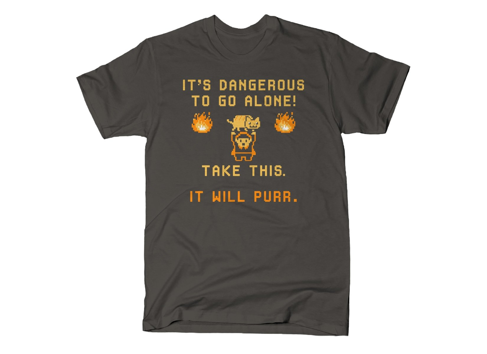 It's Dangerous To Go Alone on Mens T-Shirt