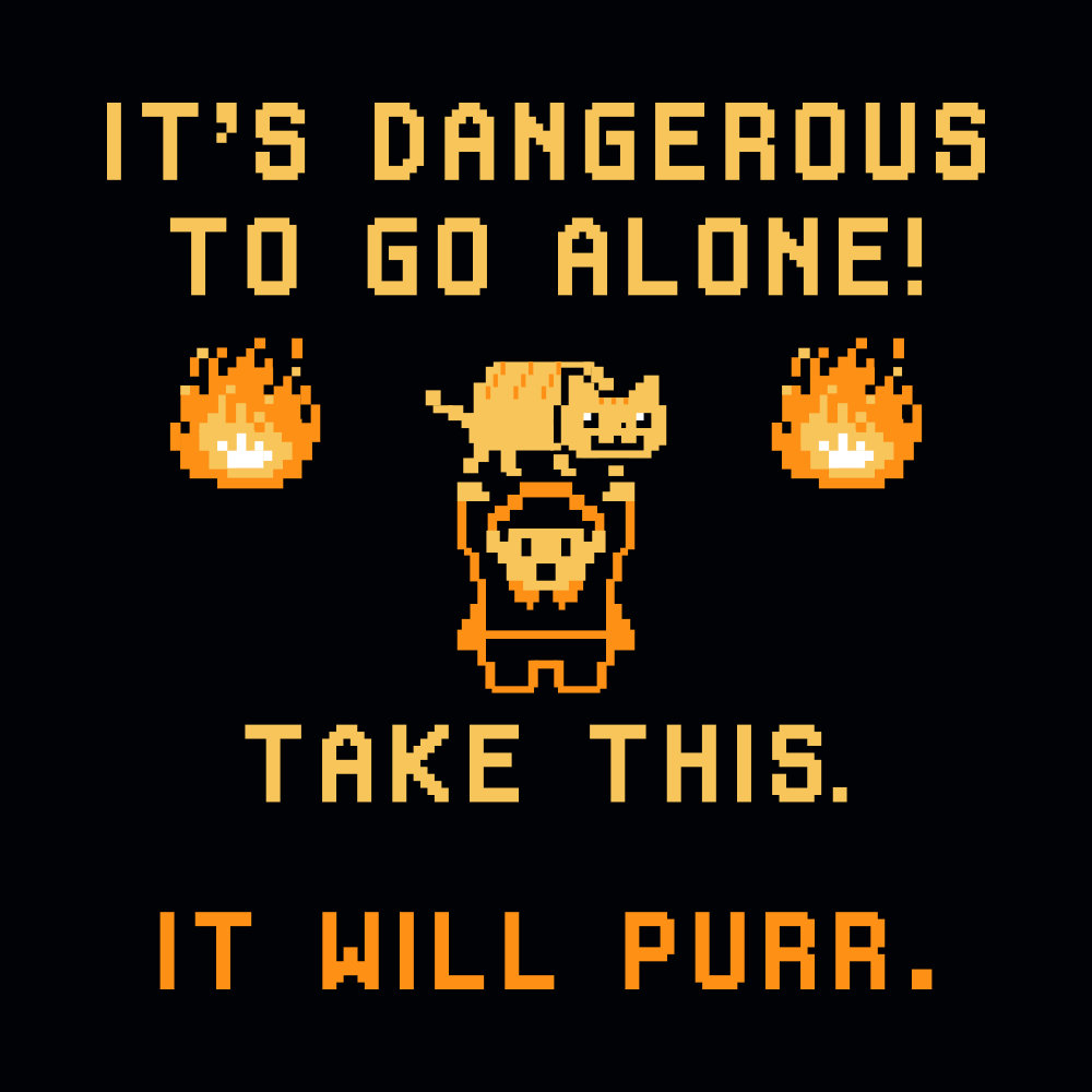 It S Dangerous To Go Alone T Shirt Snorgtees I always loved this scene and it was fun depicting it. it s dangerous to go alone t shirt snorgtees