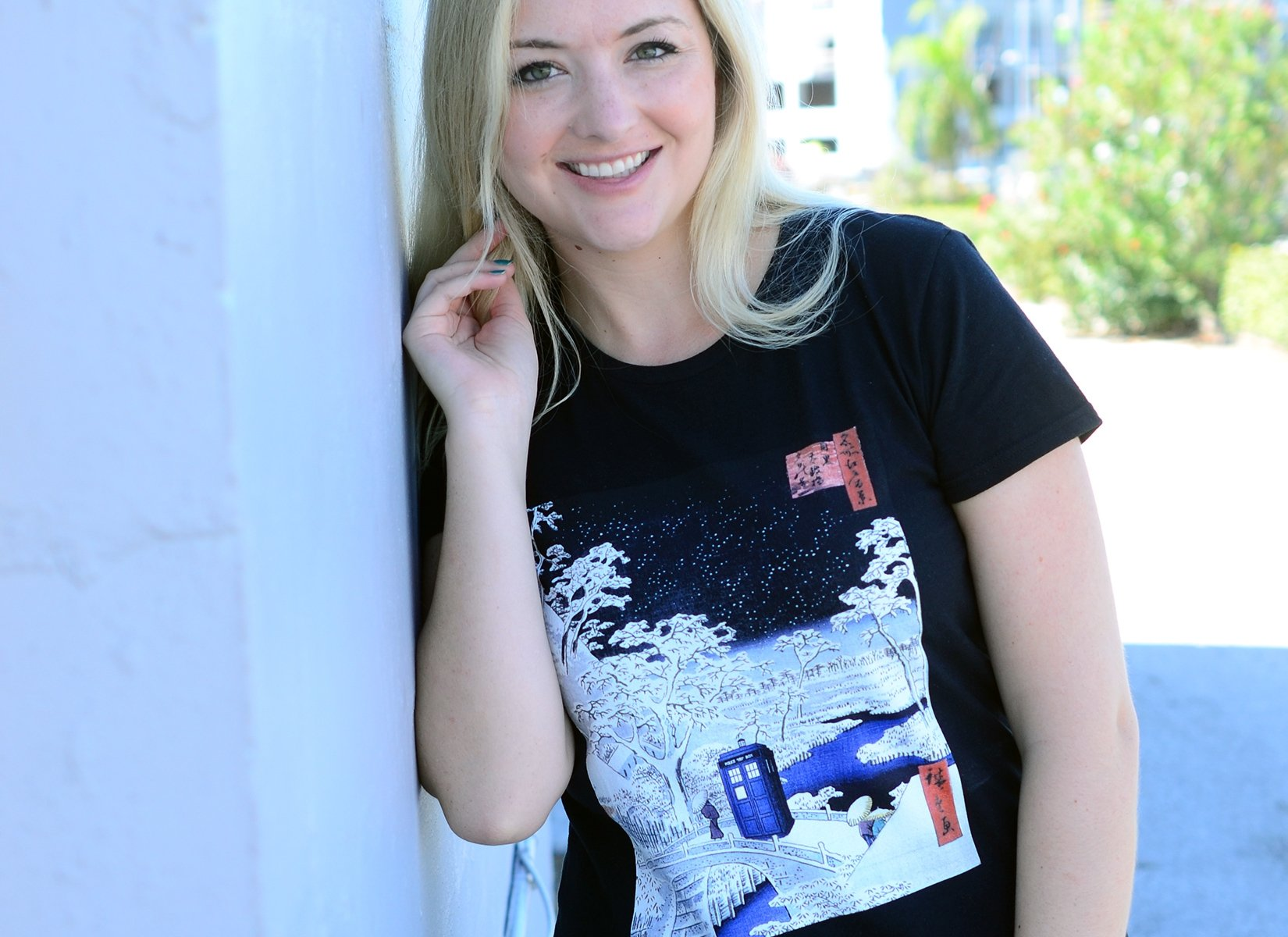 Snow Bridge on Womens T-Shirt