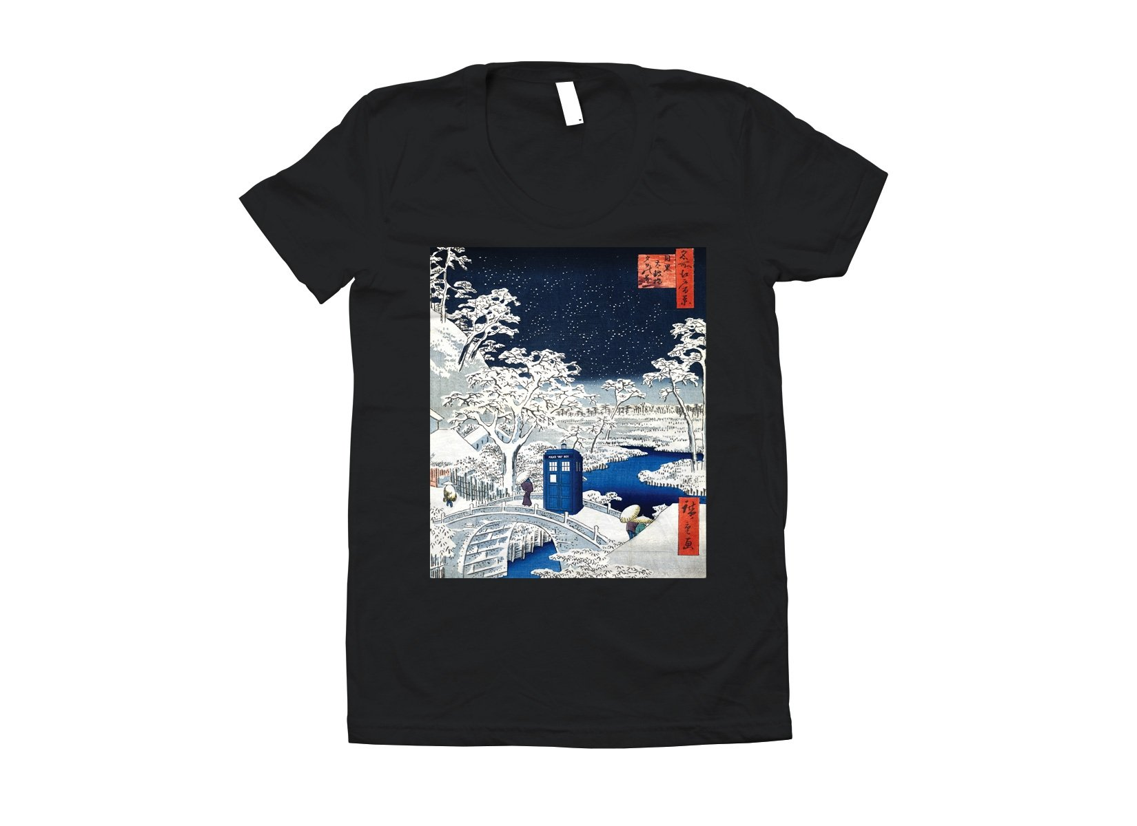 Snow Bridge on Juniors T-Shirt