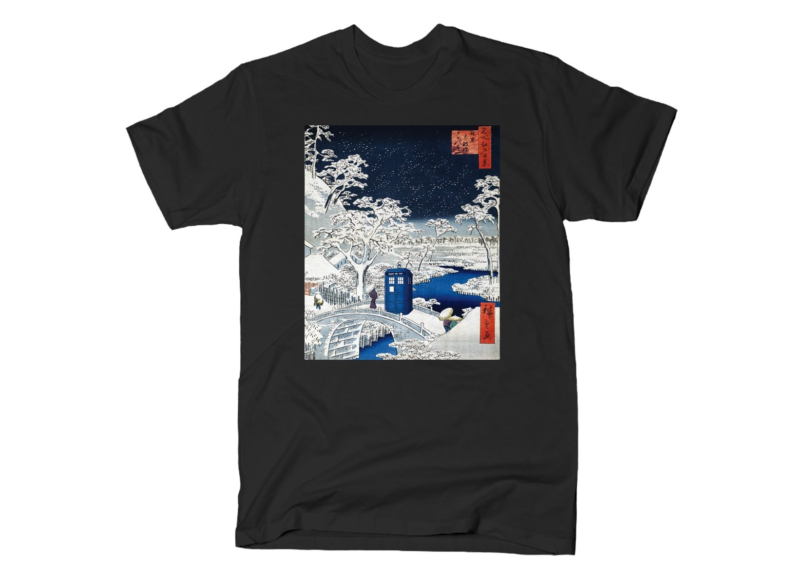 Snow Bridge on Mens T-Shirt