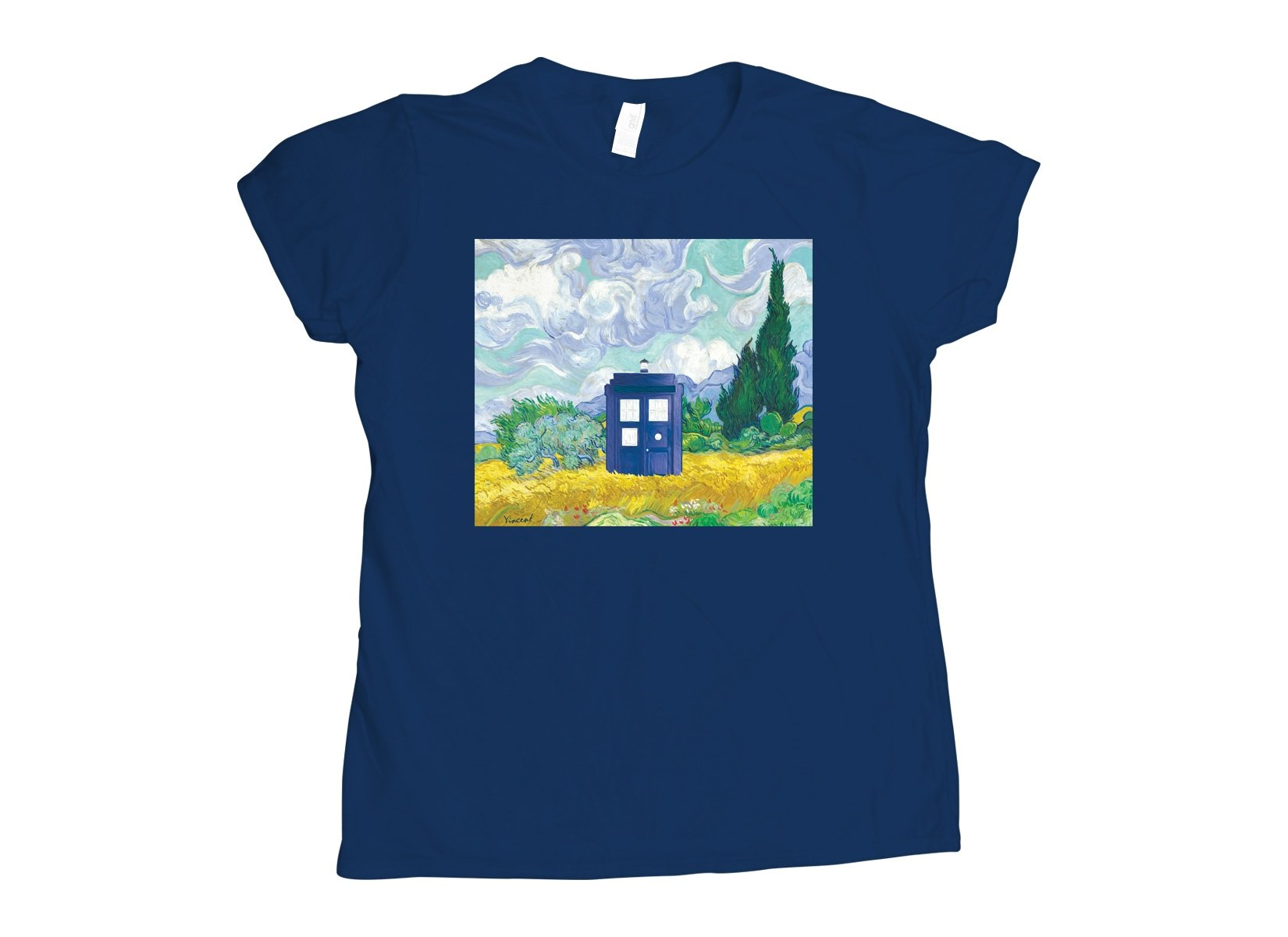 Visiting Van Gogh on Womens T-Shirt