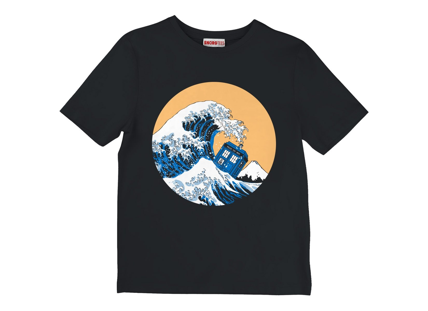 Police Box Wave on Kids T-Shirt