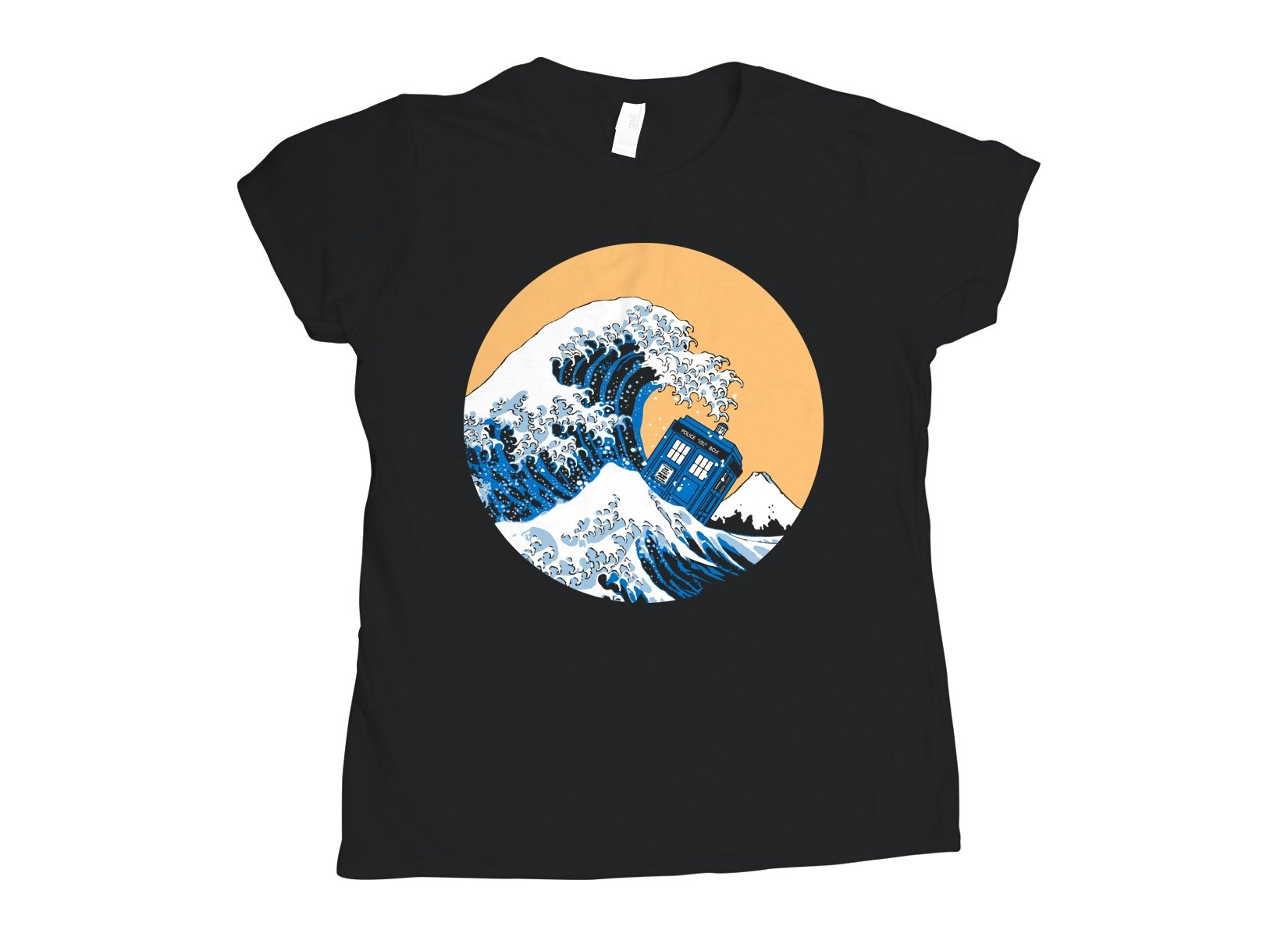 Police Box Wave on Womens T-Shirt