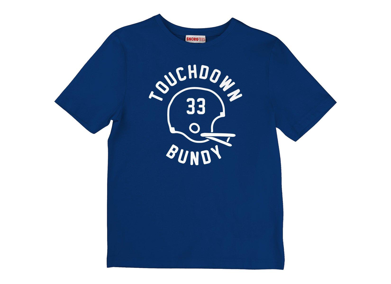 Touchdown Bundy on Kids T-Shirt