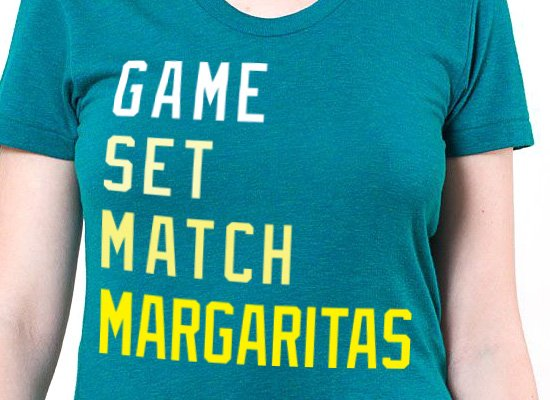 Game, Set, Match, Margarita on Mens T-Shirt