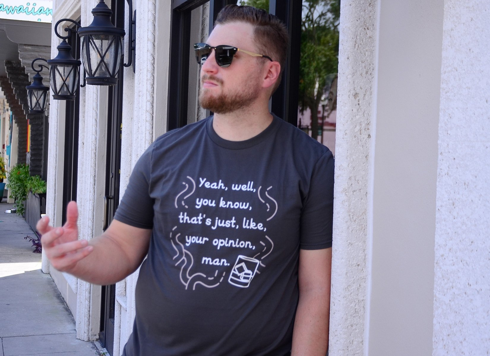 Your Opinion, Man on Mens T-Shirt