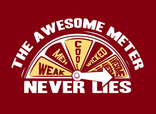 The Awesome Meter on Mens T-Shirt