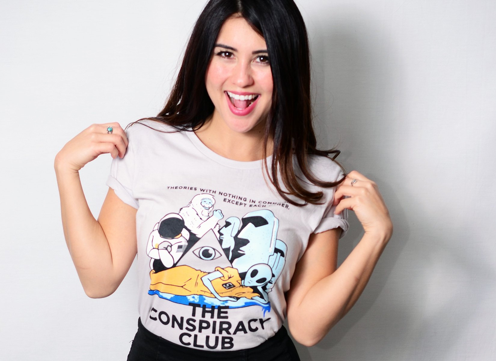 The Conspiracy Club on Womens T-Shirt