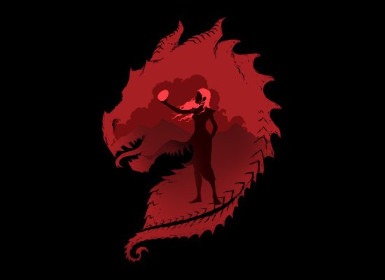 The Dragon on Mens T-Shirt