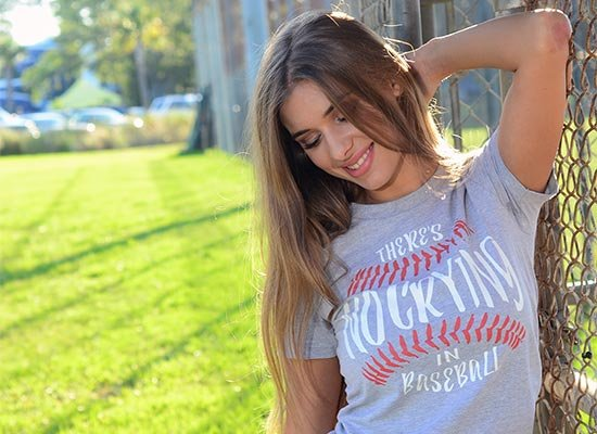 There's No Crying In Baseball on Juniors T-Shirt