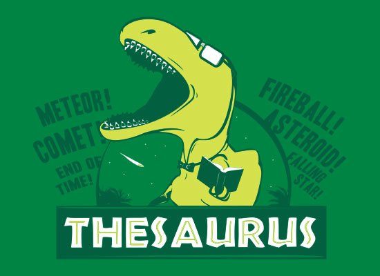 Thesaurus t shirt snorgtees for Cuisine thesaurus