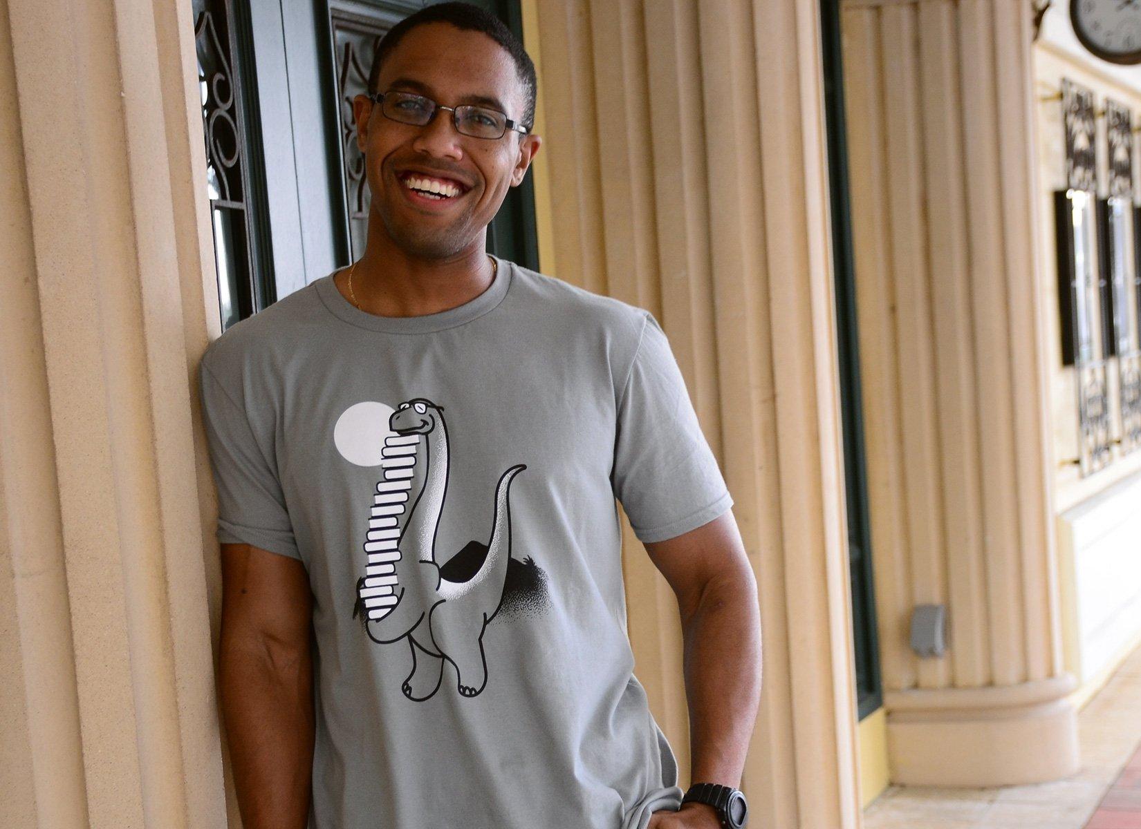 Bookosaurus on Mens T-Shirt