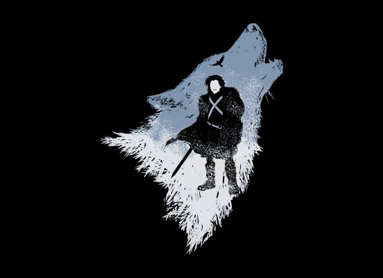 The Wolf on Mens T-Shirt