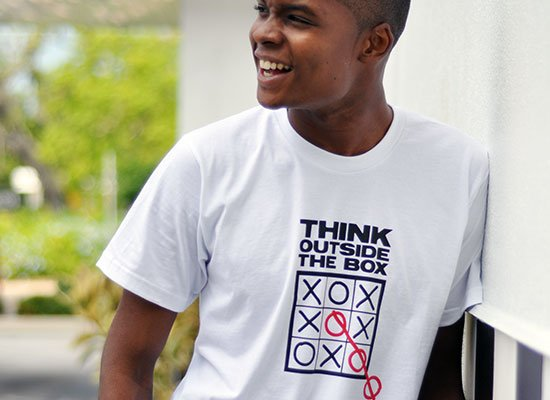 Think Outside The Box on Mens T-Shirt