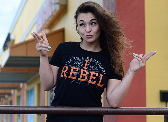 I Rebel on Juniors T-Shirt